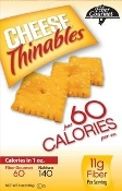 Fiber Gourmet Thinables Crackers - Cheese