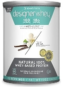 Designer Whey Natural 100% Whey Protein - French Vanilla 12 oz