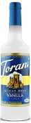Torani Sugar Free Vanilla Syrup - 750 ml Glass Bottle