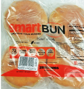 Smart Bun Zero Carb, 6 Gluten Free Plain Hamburger Buns