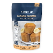 Keto and Co Banana Caramel Muffin Mix - Less than 2 Carbs