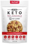 NuTrail Keto Vanilla Strawberry Granola 3 Net Carbs