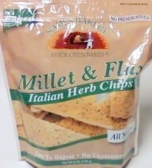 Sami's Bakery Italian Herb Millet & Flax Chips - Case of 12 Bags